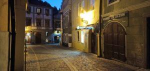 night at the city, Cesky Krumlov, Ceko