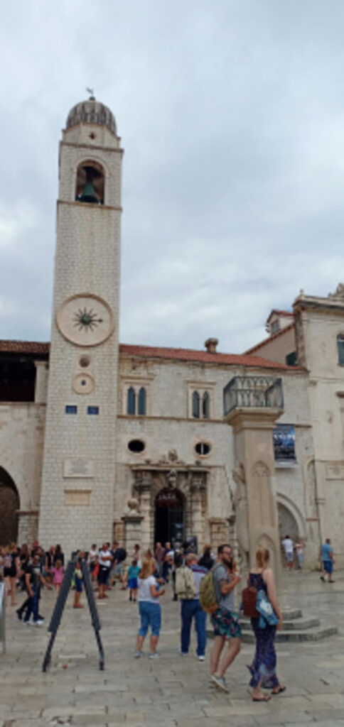 clock tower, Dubrovnik, Kroasia
