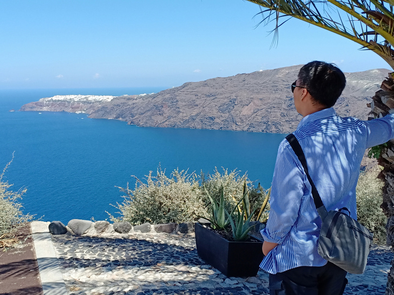 Hiking, Fira, Oia, Santorini, Yunani