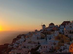 Oia, Santorini, Yunani, Sunset