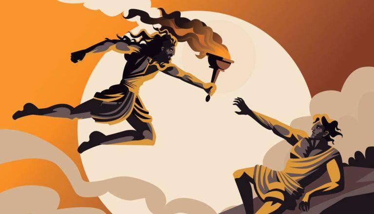 Prometheus-giving-man-fire-Greek-mythology